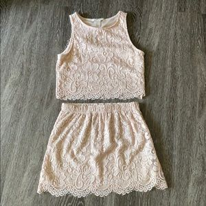 Lacey Co-Ord Crop Top Set